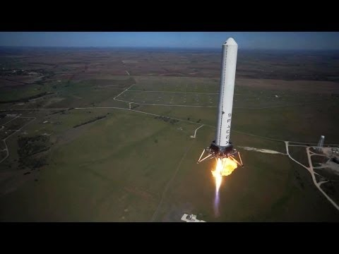 SpaceX - Grasshopper Vertical Takeoff Vertical Landing (VTVL) Reusable Rocket 744m Test [1080p]