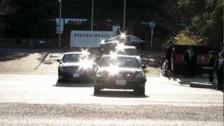 安倍総理大臣 車列 motorcade of Japanene prime minister 2013