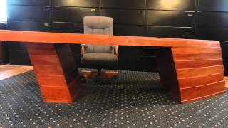 Handmade Modern Ceo Heirloom Desk, Knoll Furniture  For Sale