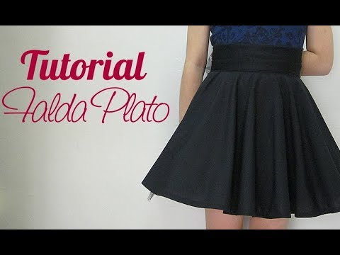 762df3a703 Falda Circular Plato - YouTube