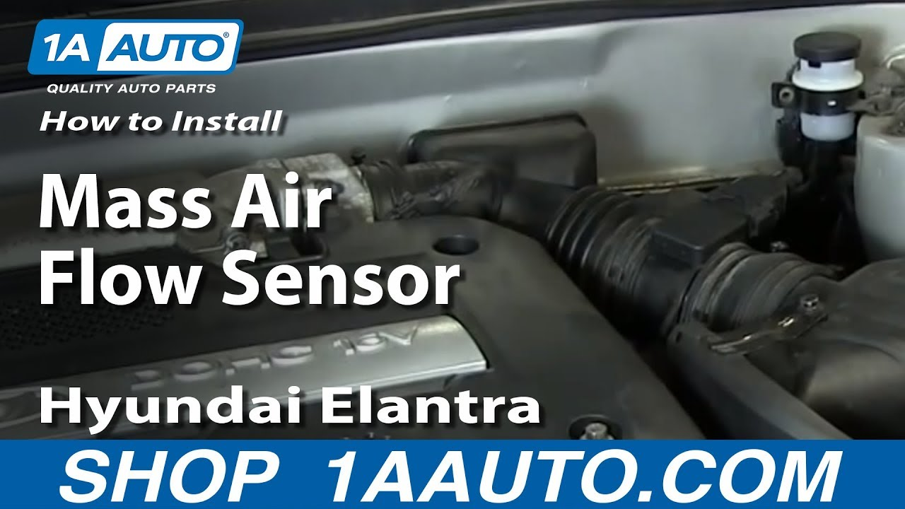 how to install replace mass air flow sensor 2001 06 hyundai elantra 2 0l youtube [ 1920 x 1080 Pixel ]