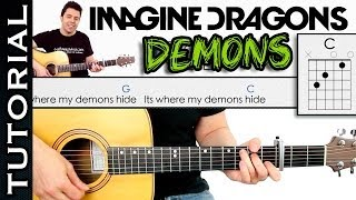 Como tocar DEMONS de Imagine Dragons en guitarra TUTORIAL COMPLETO Video