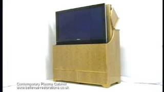 Plasma Television Cabinet With Automatic Lifting Mechanism