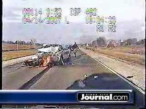 Ida Grove Iowa Motorcycle Pursuit and Crash