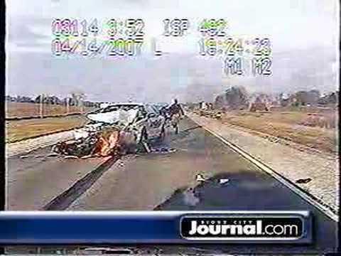 Iowa Motorcycle Collision or Wreck - Head on crash