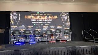 Floyd Mayweather Vs Logan Paul Press Conference Undercard EsNews Boxing