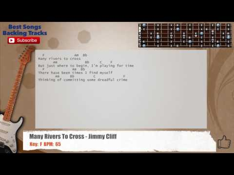 Many Rivers To Cross - Jimmy Cliff Guitar Backing Track with chords and lyrics