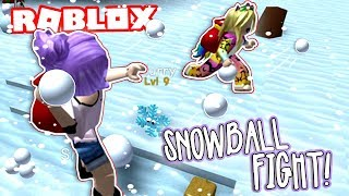 SNOWBALL FIGHT!! | Roblox Snowman Simulator