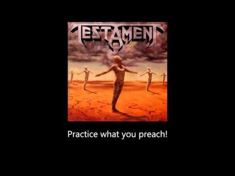 Testament - Practice What You Preach (Lyrics)