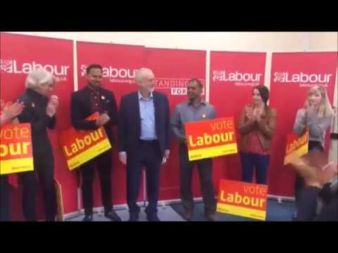 Jeremy Corbyn in Swindon - Labour would abolish zero-hour contracts