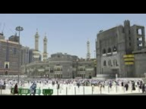 Pilgrims in Saudi Arabia prepare for Hajj