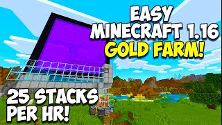 SIMPLE Minecraft 1.16 GOLD FARM TUTORIAL! Minecraft Bedrock (PS4,XBOX,SWITCH,MCPE)