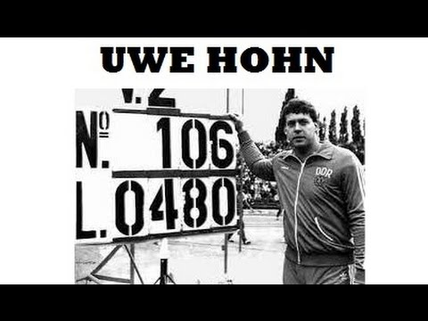 Uwe Hohn , THE ONLY JAVELIN THROWER TO GO PASS THE 100 METERS.