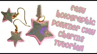 Easy Holographic Polymer Clay Charm Tutorial