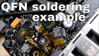 No backlight on Unibody Macbook - how to fix via QFN soldering.