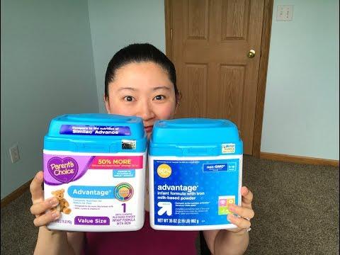 Baby Formula Comparison! Up & Up Enfamil Similac Parent's Choice