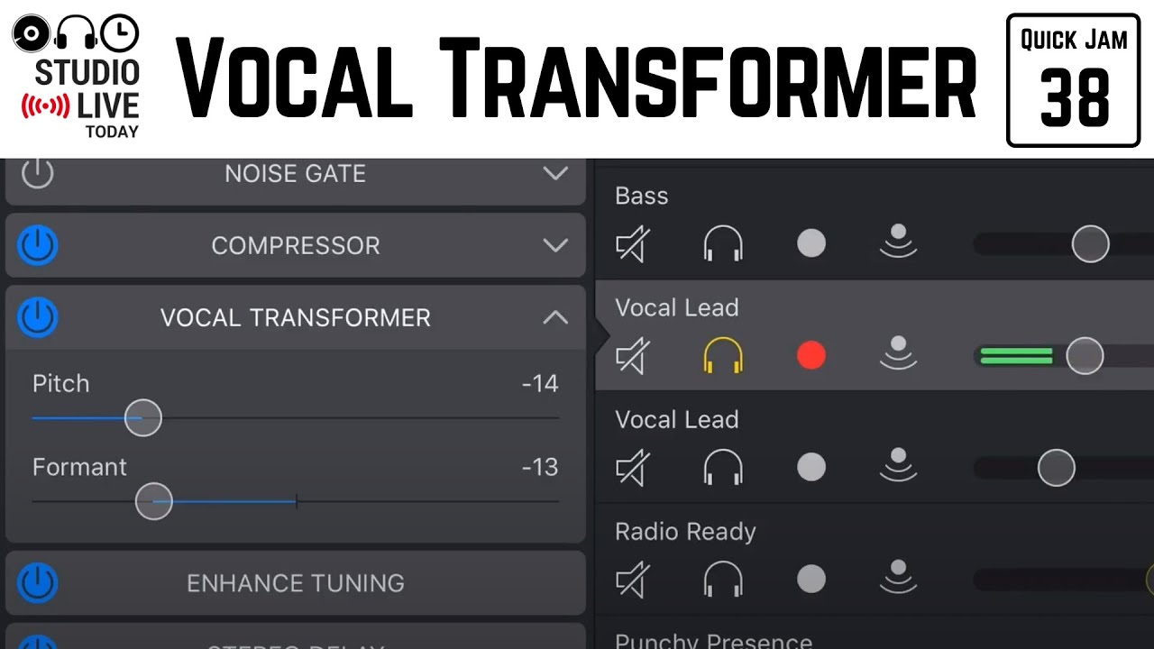 Vocal Transforner in GarageBand iOS (iPhone/iPad) – Quick Jam #43