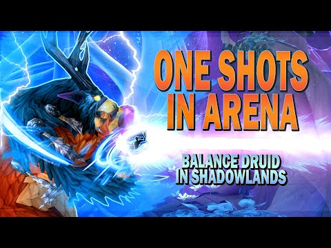 ONE SHOTS IN ARENA [Balance Druid SHADOWLANDS PvP Guide]