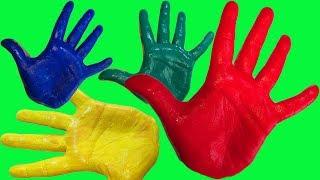 Учим цвета для самых маленьких Развивающая песня про пальчики Сборник для малышей Пальчиковые краски