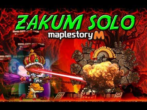 MapleStory M Norm Zakum Solo - Level 111 F2P Dark Knight (FULL VIDEO)