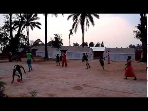 Kigutu Preschool Academy children playing ball