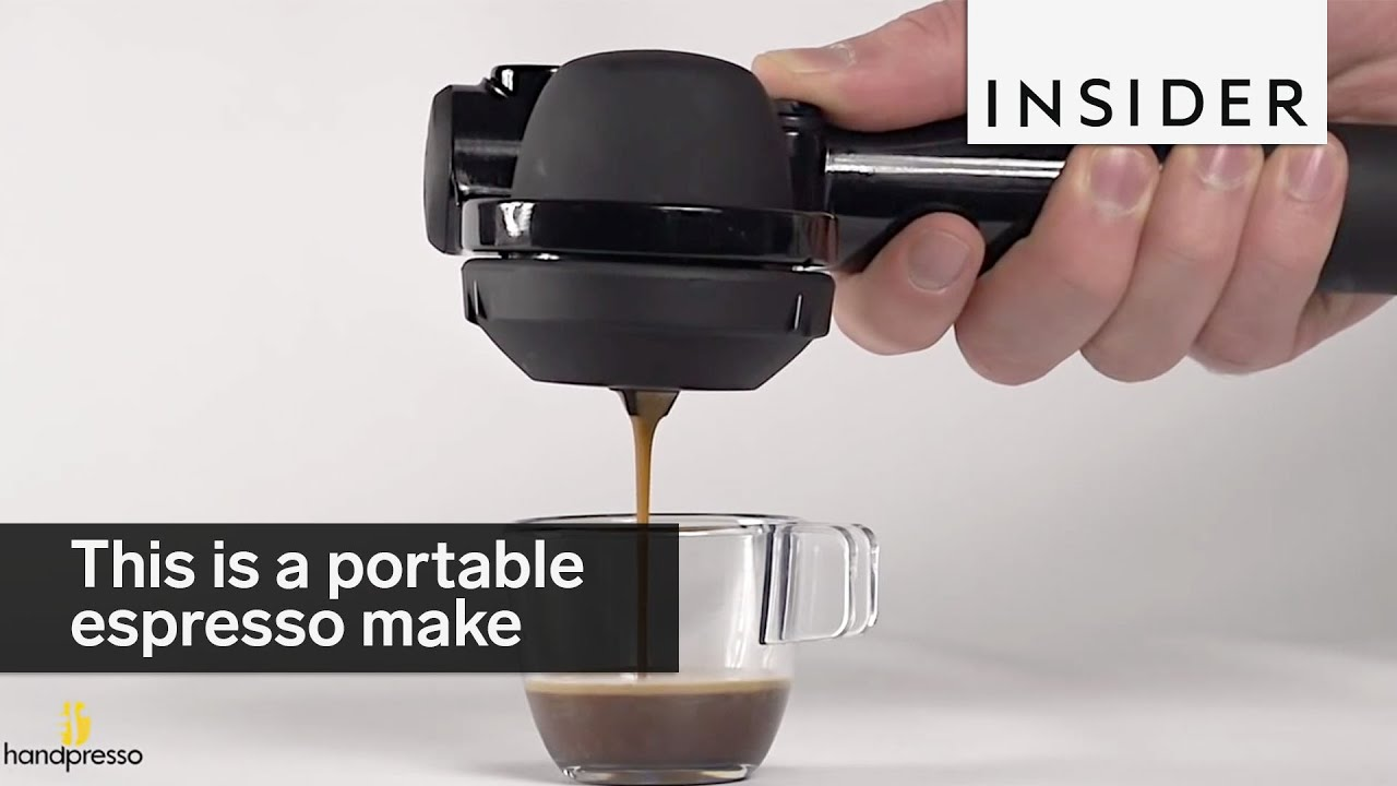 Portable Coffee Maker For Work : This handheld machine is a portable espresso make - YouTube
