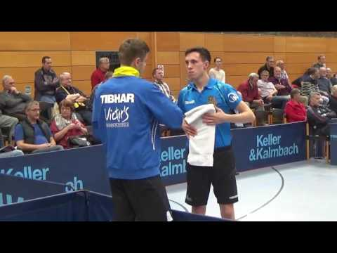 Flemming vs Dennis Klein Tischtennis Bundesliga 2 TV Hilpoltstein vs Saarbruecken II  20161016 7