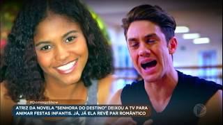 Gambar cover Domingo Show promove reencontro emocionante entre Leo Miggiorin e Jéssica Sodré