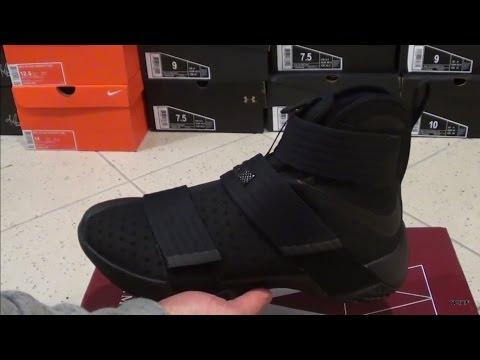 Fraseología pétalo edificio  Nike LeBron Soldier 10 Triple Black 844374 001 Black nike shoes Basketball  sneakers Nike lebron