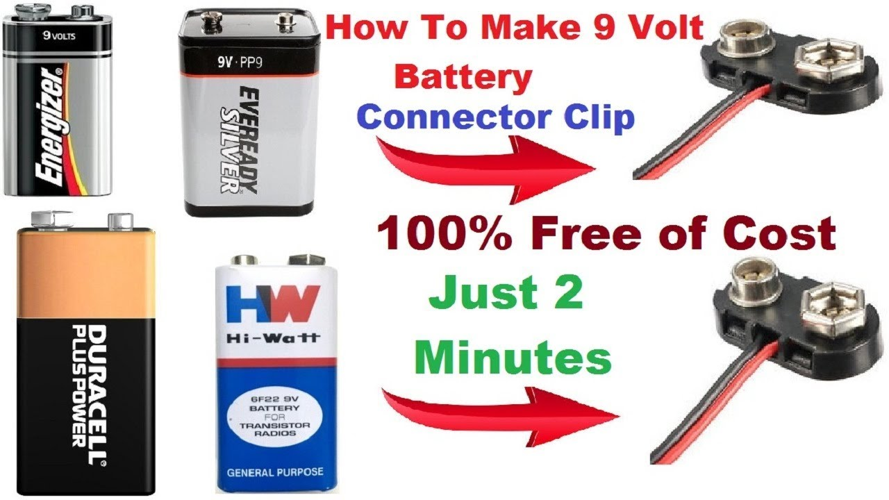 how to make a 9 volt battery connector at home make. Black Bedroom Furniture Sets. Home Design Ideas