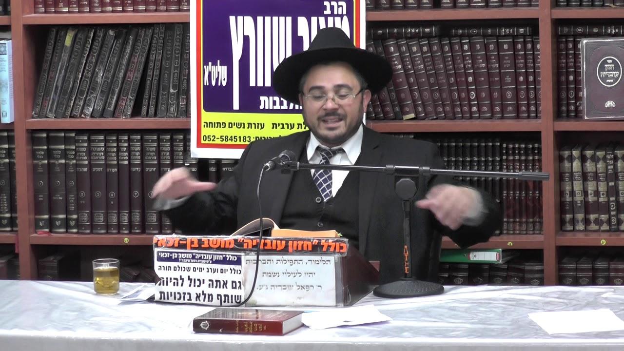 הרב אמיר כהן :  פרשת משפטים - על פי אור החיים הקדוש .