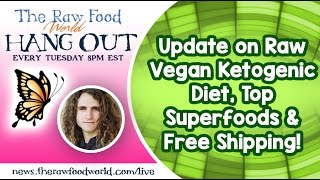 Hangout: Update on Raw Vegan Ketogenic Diet, Top Superfoods & Free Shipping!