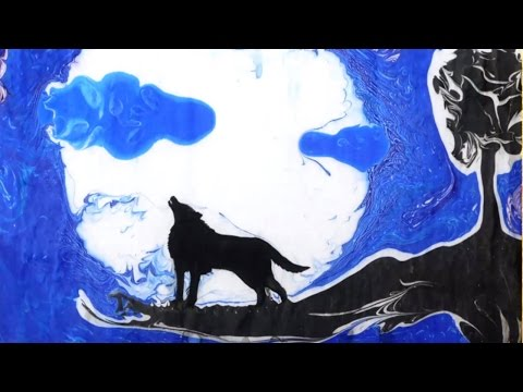EBRU PAINTING Beautiful Painting on Water | Ebru paint made by CAPITELLO art paints factory