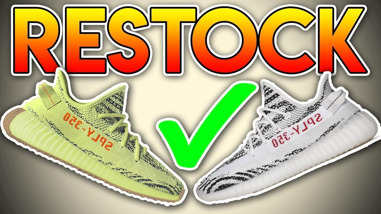 wholesale dealer 1152b 5e940 *RESTOCK* Yeezy Boost 350 V2 Zebras & Yebras ( Semi-Frozen Yellow ) HIGH  STOCK NUMBERS!