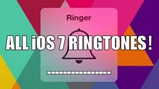 ALL NEW iOS 7 Ringtones!