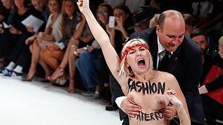 Активистки FEMEN устроили «секс теракт» на показе мод вПариже