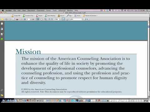 aca ethics Aca code of ethics preamble the american counseling association is an educational, scientific, and professional organization whose members are dedicated to the enhancement of human.