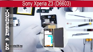 How to replace digitizer & lcd Sony Xperia Z3 D6602, D6603, D6606, D6653(How to replace digitizer & lcd Sony Xperia Z3 D6602 by himself. Removal touch screen and display Sony Xperia Z3 D6603 at home with a minimal set of tools., 2015-04-23T18:00:41.000Z)