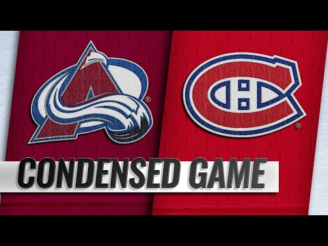 01/12/19 Condensed Game: Avalanche @ Canadiens