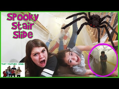 Thumbnail: KIDS SPOOKY STAIR SLIDE CHALLENGE - Family Fun! / That YouTub3 Family