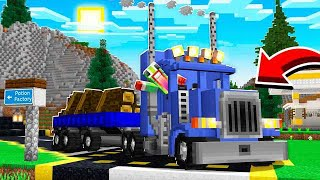 BECOMING A TRUCK DRIVER IN MINECRAFT!