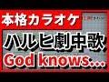 【フル歌詞付カラオケ】God knows...(涼宮ハルヒ(平野綾))【涼宮ハルヒの憂鬱 劇中歌】【野田工房cover】