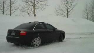 Audi S4 fun in the snow