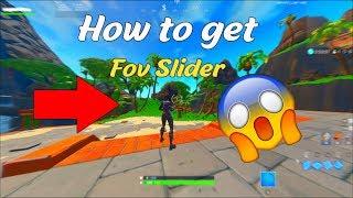 *NEW* How to get FOV SLIDER in Fortnite! (INSANE)