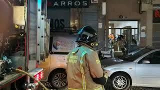 Incendio en un edificio de la rúa Greco