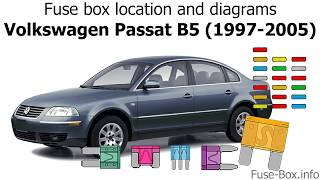 fuse box location and diagrams: volkswagen passat b5 (1997-2005) - youtube  youtube
