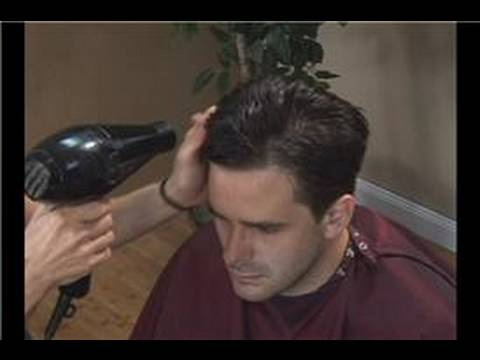 Haircuts for Men : Haircuts for Men: Blow Drying - YouTube