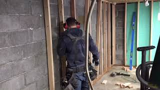 how to frame basement walls and garage walls