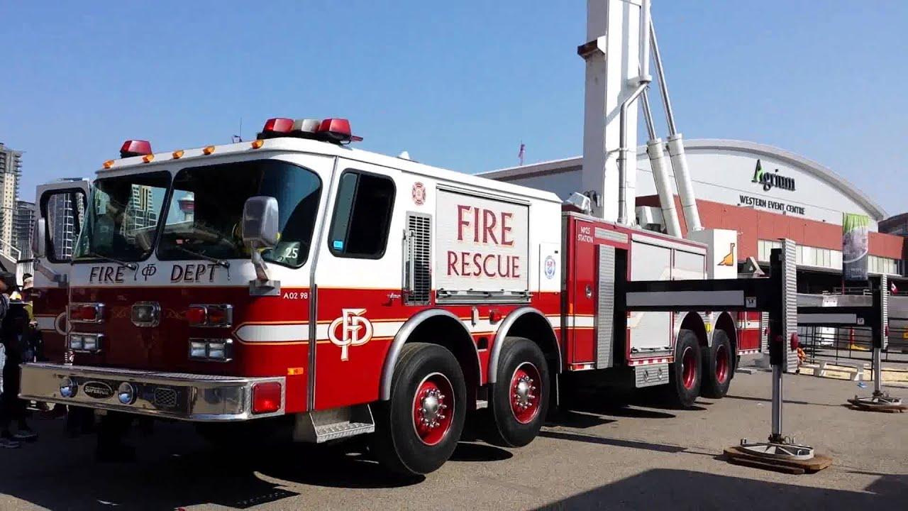 Calgary Fire Department 50 Meter Bronto Skylift Youtube