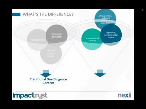 Nexii Webinar Series 2012: Due Diligence in Impact Investment